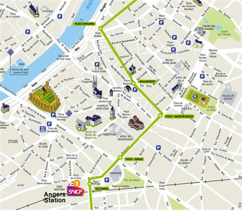 Plan Hotel De Ville Angers